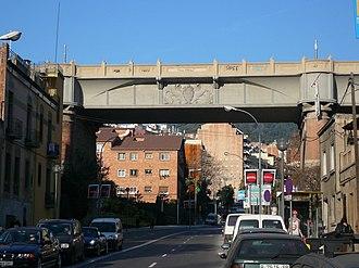 Vallcarca i els Penitents - Image: Viaducte de Vallcarca