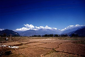 English: Annapurna Himal,Nepal, seen from Pokh...