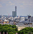 View from Westminster Cathedral 2011 BT Tower.jpg