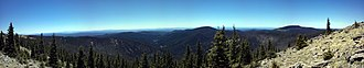 Mount Baldy (Arizona) - Image: View from summit of Mt Baldy, Arizona, May 2012