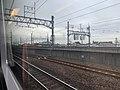 View from train on Tōkaidō Main Line approaching Nagoya Station 01.jpg