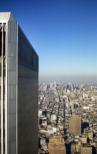 World Trade Center (1973–2001) - View north from the World Trade Center, 1990