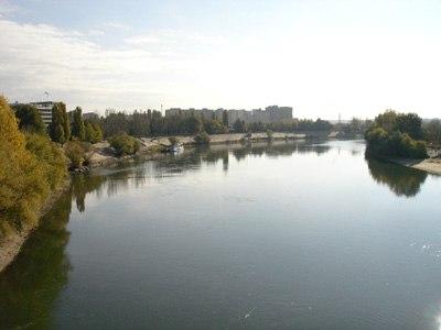 View of the Dniester(Nistru) river in Tiraspol