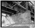 View southwest, pier no. 2 - Wabash River Bridge, Spanning Wabash River at U.S. Highway 40, Terre Haute, Vigo County, IN HAER IN-64-17.tif