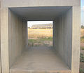 View through one of Judd's concrete blocks to the landscape and artillery sheds..jpg