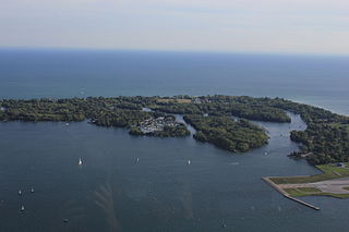 Toronto Islands archipelago in Lake Ontario, Canada