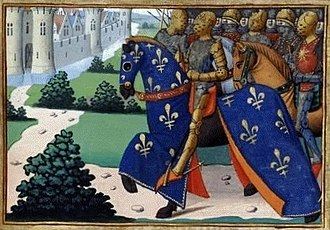 Siege of Tartas - 24 June 1442: Journée de Tartas. French forces arrive in the town. (illustration from Vigiles de Charles VII, 15th century)