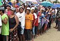 Villagers of Tanza queue for essentials distributed by Save the Children (10977640395).jpg