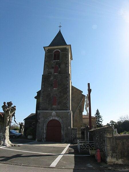 Eglise de Labastide Villefranche (Pyrénées-Atlantiques) (Pyrénées).