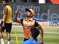 Vinay Kumar, practicing, Hubli Tigers.jpg