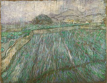 Rain or Enclosed Wheat Field in the Rain, November 1889, Philadelphia Museum of Art, Philadelphia