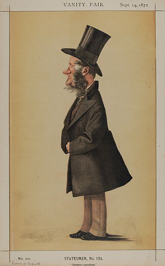 "George Byng, 3rd Earl of Strafford - ""Answers questions"" Viscount Enfield as caricatured by Adriano Cecioni in Vanity Fair. September 1872"