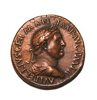 Vitellius on a coin.