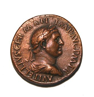 Vitellius - Vitellius on a coin.
