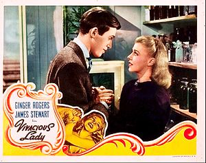 Vivacious Lady - Lobby card for the film