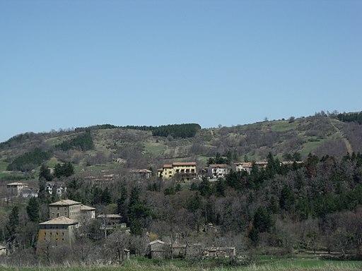 Vivo d'Orcia e il Palazzo Cervin