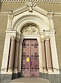 Vourles - Église Saint-Bonnet (portail).jpg