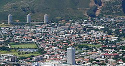 Vredehoek seen from Signal Hill