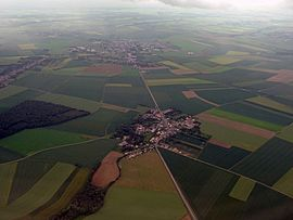 An aerial view of Thieuloy-Saint-Antoine