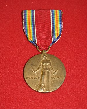 English: United States World War II Victory Medal