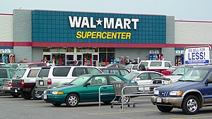 Urban sprawl - Walmart Supercenter in Luray, Virginia.