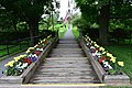 Walkway to Evangaline Statue and Church in Grand Pre.JPG