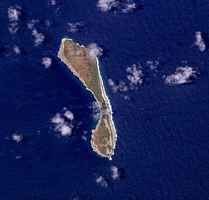 Walpole Island (New Caledonia) - Walpole from space