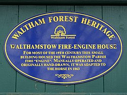 Walthamstow fire engine house (waltham forest heritage)