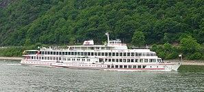Riverboat - Passenger tourboat of Köln-Düsseldorfer on the river Rhine