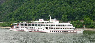 Riverboat - Passenger tourboat of Köln-Düsseldorfer on the river Rhine