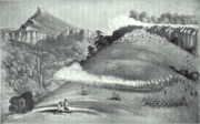 War of the Axe - Sketch of shootout between British Imperial Troops and Xhosa Soldiers - Amatola Mnts June 1851