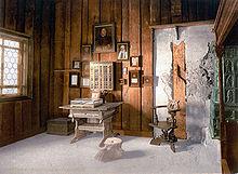 Rekonstruierte Lutherstube auf der Wartburg (Quelle: Wikimedia)