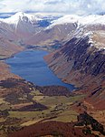 Wast Water in Cumbria in England - aerial view looking north-east (cropped).jpg