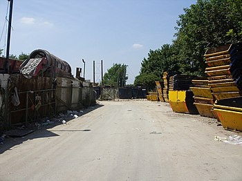 English: Waste recycling depot, Brindley Close...