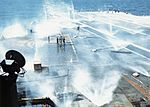 Water washdown system test on USS America (CVA-66) 1969.jpg