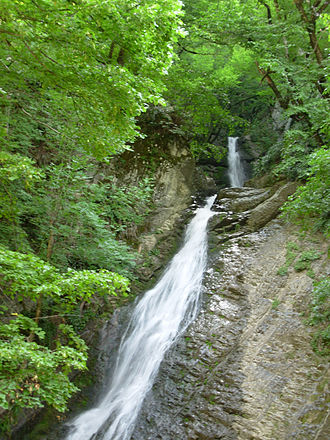 Qabala District - A waterfall in Gabala district of Azerbaijan