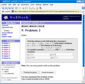 WeBWorK - Image: We B Wor K