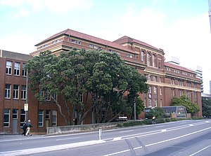 Victoria University of Wellington - Victoria University of Wellington's Pipitea Campus: the west wing of Railway Station