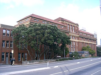 Victoria University of Wellington - Victoria University of Wellington's Pipitea Campus: the west wing of Wellington railway station