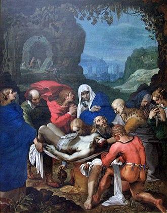 Wenceslas Cobergher - The entombment (1605)