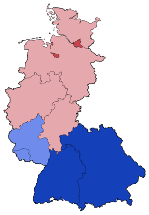 West German federal election, 1976 - Image: West German Federal Election Party list vote results by state 1976