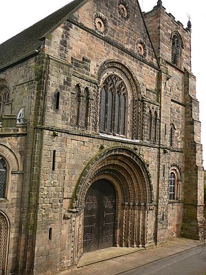 Tutbury - West front of St Mary's Church (circa 1160)