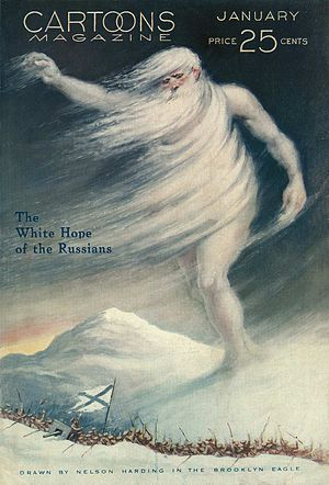 English: The White Hope of the Russians. A WWI...