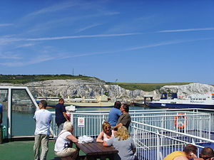 The White Cliffs of Dover from a ferry