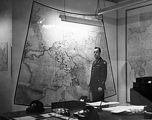 Map Room (White House) - Map Room, circa 1943