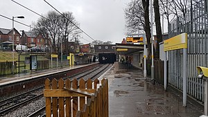 Whitefield tram stop - Whitefield tram stop in January 2017