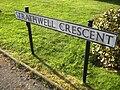 Whitwell Strathwell Crescent sign.JPG