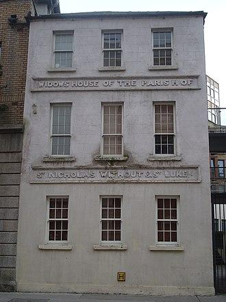 St. Luke's Church, Dublin - Widows House of the parish of St. Nicholas Without and St. Luke