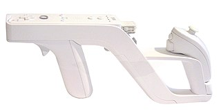 Wii Zapper controller for the Nintendo Wii game console
