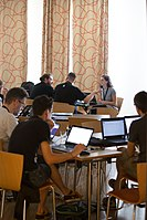 Wikimedia Hackathon Vienna 2017-05-19 Hacking Gurkerl 010.jpg